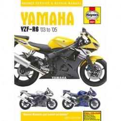 Yamaha YZF-R6 Haynes Repair Manual for 2003 to 2005